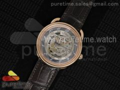 Arceau RG Gray Skeleton Dial on Brown Croco Leather Strap A2892