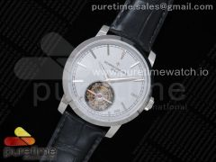 Traditionnelle Tourbillon SS OXF Best Edition Gray Dial on Black Leather Strap