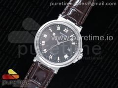 Marine 5517 SS V9F 1:1 Best Edition Brown Dial on Brown Leather Strap A23J
